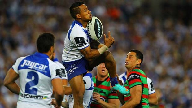 Easy pickings … Ben Barba takes a high ball.