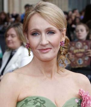 Poking fun at Britain's middle classes ... J.K. Rowling with her new book <em>The Casual Vacancy</em>.