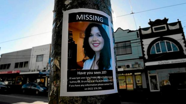 A missing person sign on the coner of Hope Street and Sydney Rd, Brunswick.