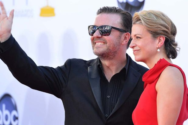 Ricky Gervais and Jane Fallon.