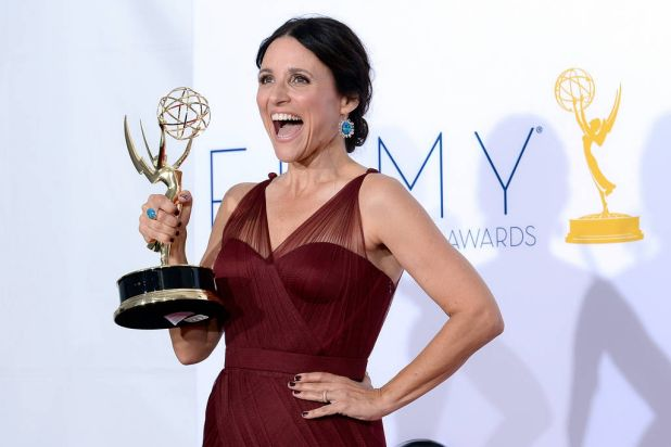 Julia Louis-Dreyfus  winner Outstanding Lead Actress in a Comedy Series poses in the press room during the 64th Annual ...