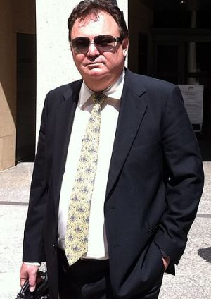 Peter Foster outside Federal Magistrates Court.
