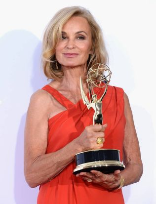 """Actress Jessica Lange, winner Outstanding Supporting Actress in a Miniseries or a Movie award for """"American Horror ..."""