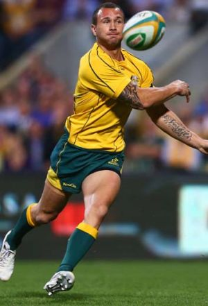 Split … a growing chasm has developed between Quade Cooper and Wallabies coach Robbie Deans and the ARU.