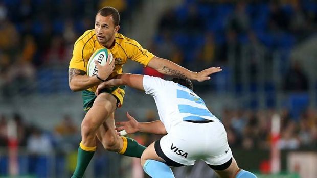 Cannot play for the Reds without an ARU contract ... Quade Cooper