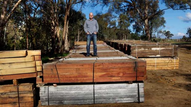 Timber! Nick Roberts of the Victorian National Parks Association slams the decision to use these sleepers from 'poorly ...