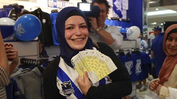 Already a winner ... Bulldogs fan Heba Raad bought 20 tickets for nearly $1600.