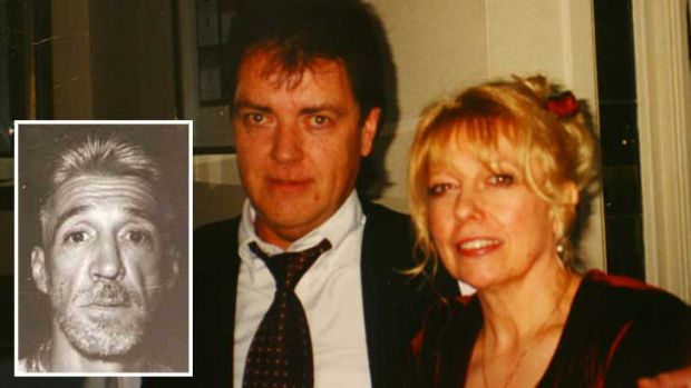 Terence and Christine Hodson (right) and the man suspected of killing them, Rodney Charles Collins (insert).