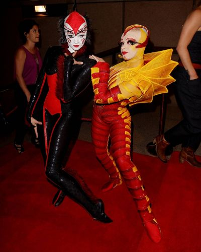 Cirque Du Soleil performers arrive at the 2012 Helpmann Awards at the Sydney Opera House