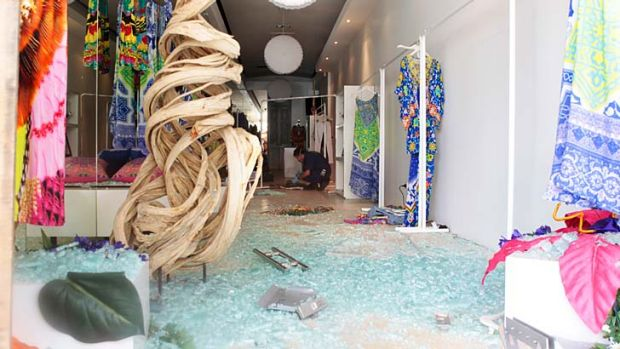Camilla Franks's store in Paddington was ram-raided last night.