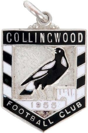 Collingwood Football Club 1955 members' badge, sold for $3500.