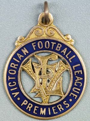Treasure … (from main) Victorian Football League premiership medal, 1931, estimates $5000-$7500.