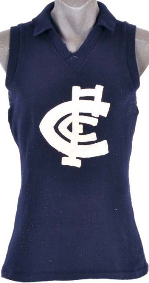 Carlton VFL jumper worn by Syd Jackson in the 1972 grand final, sold for $940.
