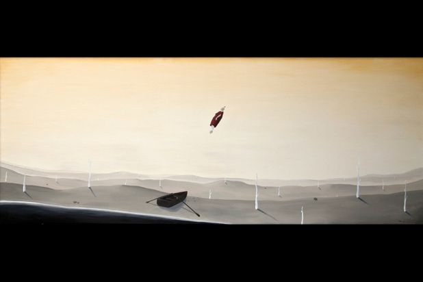 ''Ascent'', by Max Berry, 120 x 300cm.