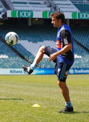 Alessandro Del Piero ... heading into the A-League season without playing a trial game for Sydney FC.
