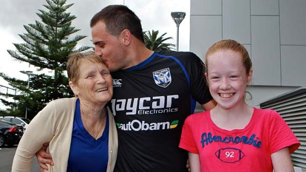 Family affair ... Canterbury's Josh Reynolds appreciated the support of his grandmother, Robyn Snashall, and 12-year-old ...
