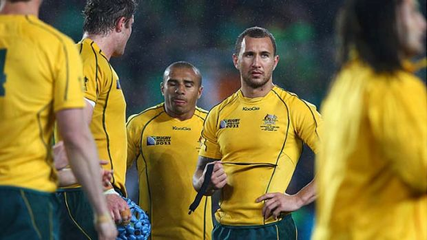 That was then ... Will Genia and Quade Cooper after the Wallabies' loss to Ireland in the Rugby World Cup last year. ...