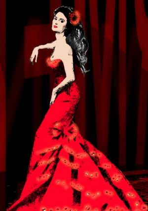 Homage to La Dolce Vita ... an artist's drawings of a costume for the lavish production which will be set in ...