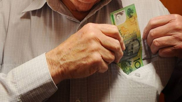 25th September 2012, Story by JP  , Canberra Times Photograph by, Colleen Petch,  Pensioner's who hoard there $100 ...