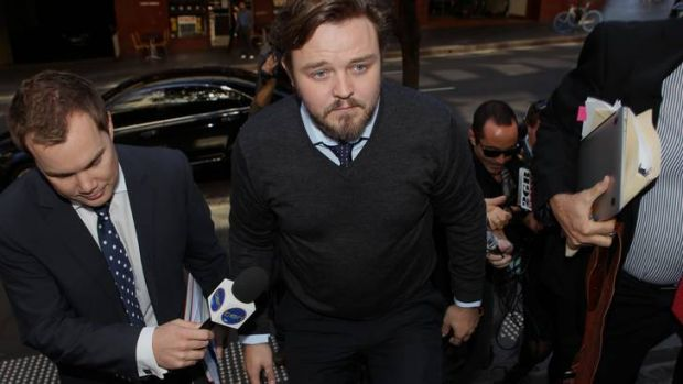 """""""My eyes are open"""" ... Matthew Newton at an earlier court appearance in Sydney."""
