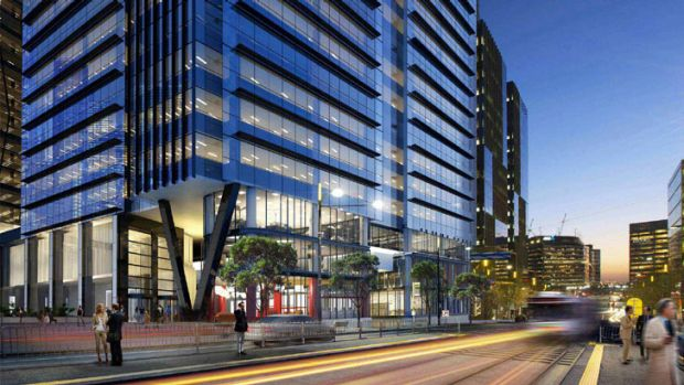 An artist's impression of the new Commonwealth Bank headquarters.