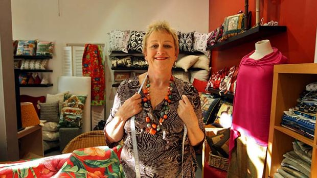 """Good word of mouth is how you survive'' … Bev MacInnes at her store, Bev's Remnant House in Redfern. She says ..."