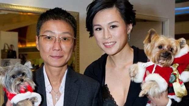 Bounty ... Gigi Chao (right) is believed to have married her girlfriend of seven years Sean Eav (left) in France.