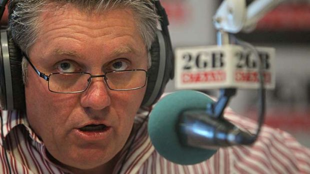 Hurting ... Ray Hadley's numbers down