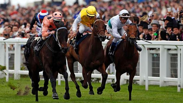 Black Caviar winning the Diamond Jubilee Stakes at Royal Ascot.