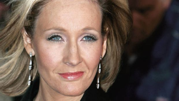 Magic happens ... the stupendously successful author J.K. Rowling.