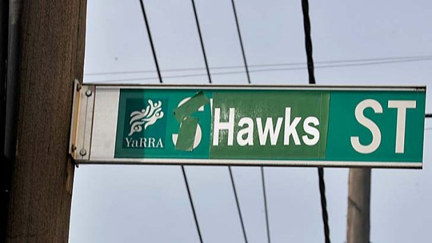 Hawthorn pranksters at work: Swan Street, near the MCG, became Hawk Street. Yarra Council is reportedly tolerating the ...