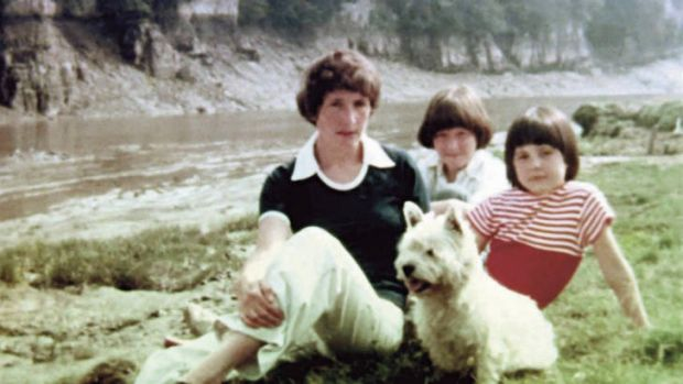 """""""Never in a million years"""" … a young Rowling with mother Anne and sister Dianne."""