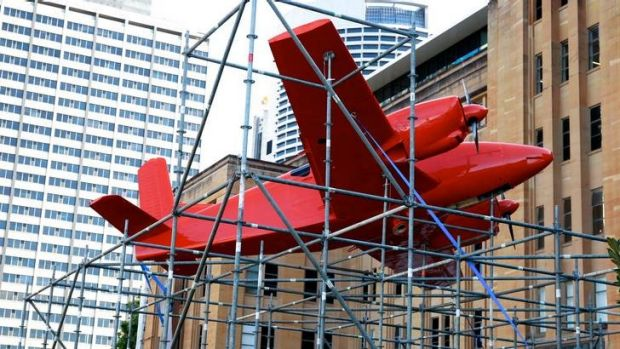 On the brink of disaster ... installation at the MCA by  Claire Healy and Sean Cordeiro.
