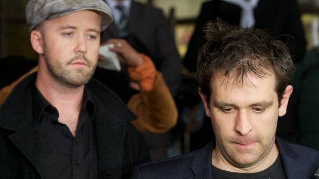 Tom Meagher (right) with his murdered wife's brother, Michael McKeon.