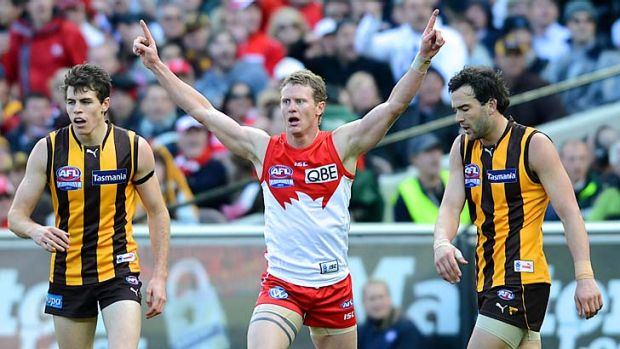 Richmond discard Mitch Morton proved a handy forward option for 2012 premiers and recycling kings the Sydney Swans.