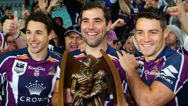 Melbourne's big three ...  Billy Slater, Cameron Smith and Cooper Cronk.