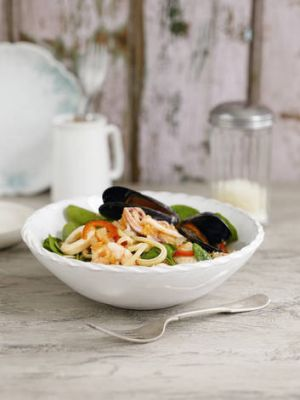 Hubby's fave … seafood linguini.