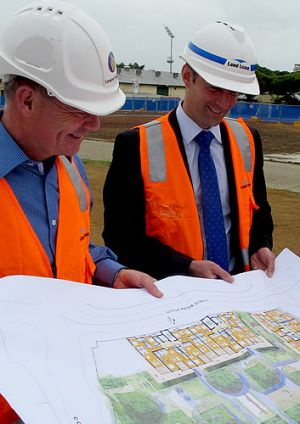 Premier Campbell Newman with RNA CEO Brendan Christou.
