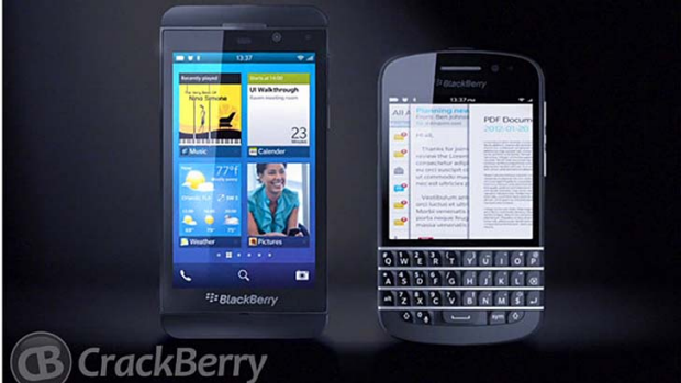 Purported images of upcoming BlackBerry 10 devices.