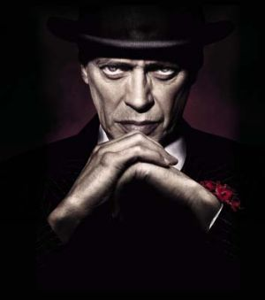 Steve Buscemi as Nucky Thompson in <i>Boardwalk Empire</i>.