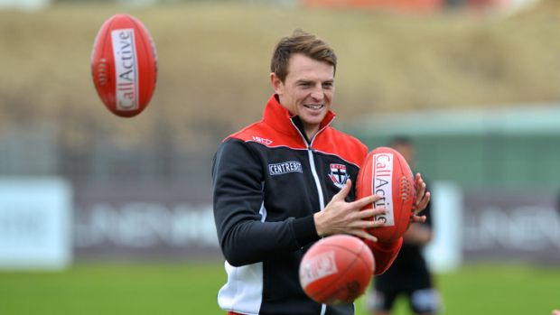 Eyes on the prize: Brendon Goddard has left St Kilda for Essendon.
