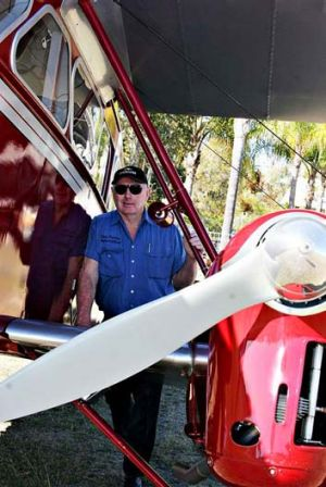 Des Porter with his Dragon. <B><A href= http://www.sunshinecoastdaily.com.au/story/2012/10/01/plane-missing-thick-cloud/ ...