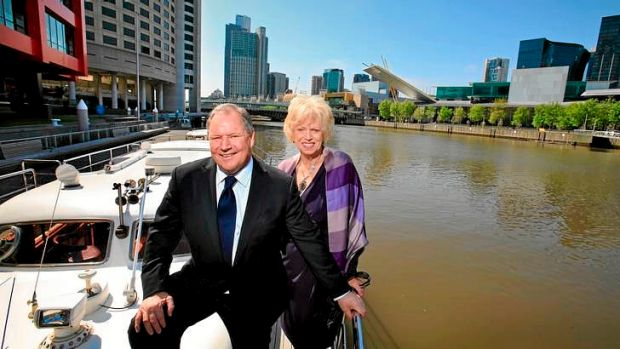 Lord Mayor Robert Doyle launches his campaign for re-election with his deputy, Susan Riley.