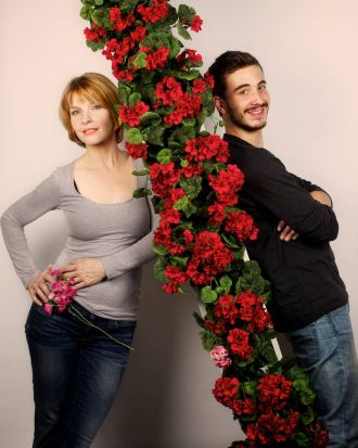 Jacqueline McKenzie and Ryan Corr at the Sydney Theater Company. They are are in a play call Sex With Strangers being ...