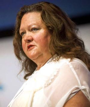 """There is no monopoly on becoming a millionaire"" ... Gina Rinehart."