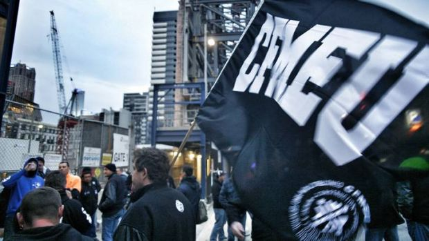 The CFMEU says Grocon misled workers over wages.