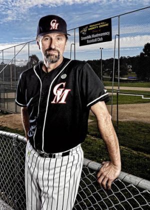 """""""He has velocity"""" … David White, pitching coach of Lewis Thorpe, at the Greenhills Montmorency Baseball Club."""