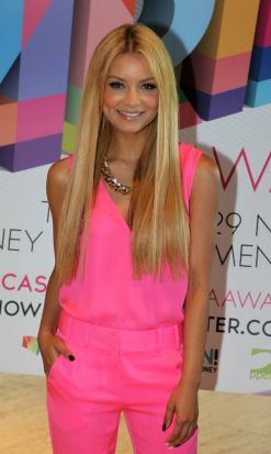 Havana Brown as she arrives at the event.