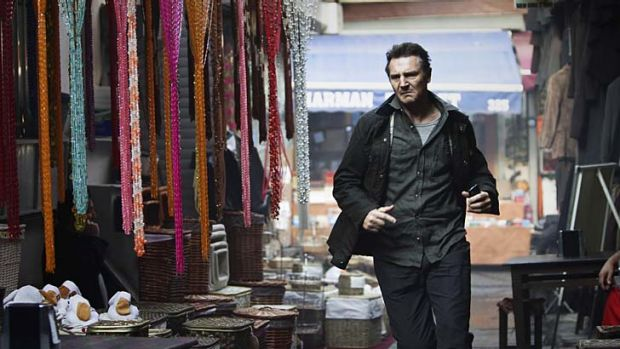 Famous face, deadly hands … Liam Neeson keeps the action moving as dirty tricks veteran Bryan Mills.