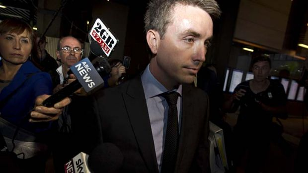 Sexual harassment claims ... Peter Slipper's former staffer, James Ashby.